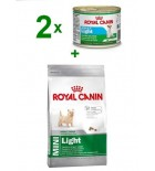 ROYAL CANIN Mini Light 800g + 2 x puszka 195g