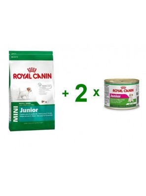 ROYAL CANIN Mini Junior 2kg + 2 x puszka 195g